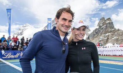 Roger Federer and Lindsey