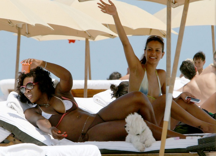 Serena Williams relax