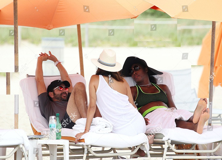 Serena Williams relaxing