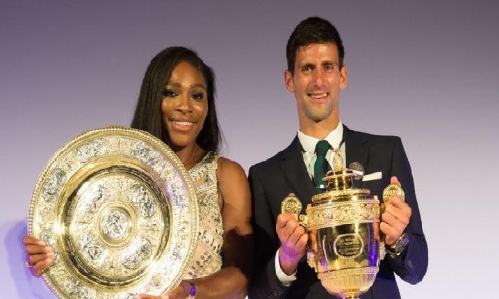 Serena and Novak