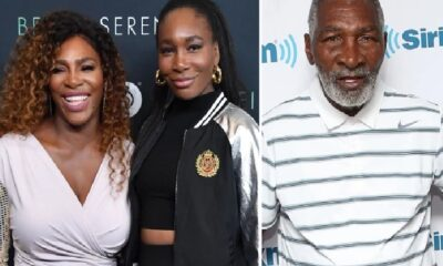 Serena and Venus Williams and father Richard Williams