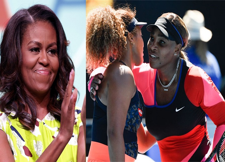 Naomi Osaka and Serena Williams receive an emotional message from Michelle Obama