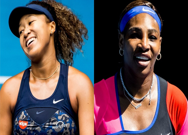 Naomi Osaka and Serena Williams tennis