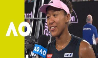 Naomi Osaka on court interview