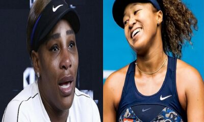 Serena Williams crying after Naomi Osaka defeated her