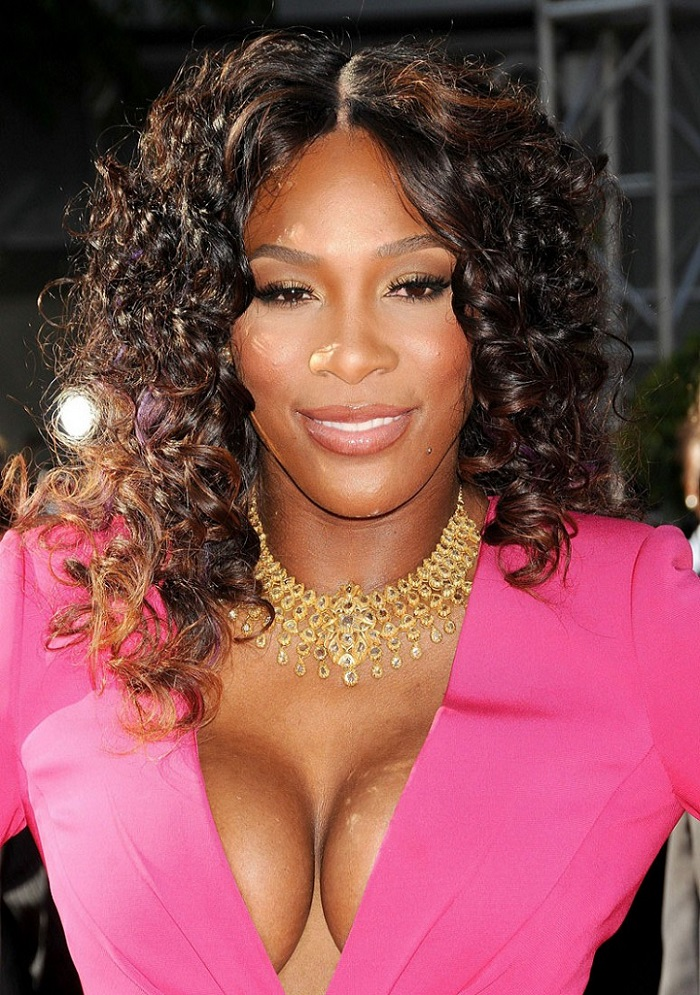 Serena Williams on red top