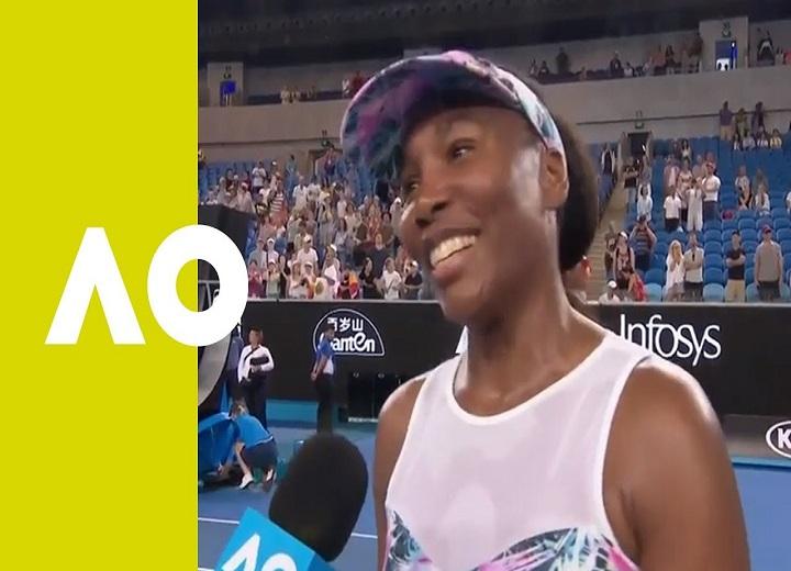 Venus Williams on court interview