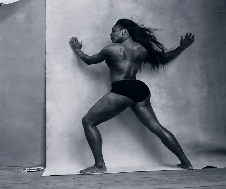 Serena Williams black and white