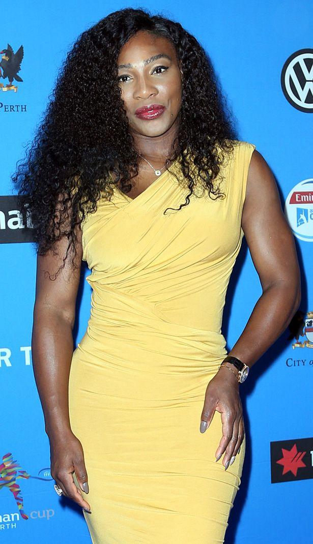 Serena Williams looks like she's had a nightmare here