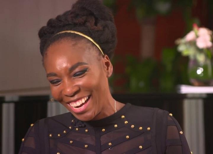 Venus Williams happy