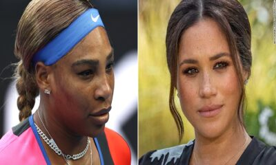 tennis star Serena Williams and Meghan Markle