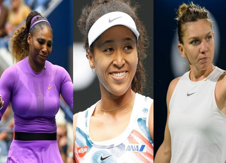 Serena Williams, Naomi Osaka, and Simona Halep