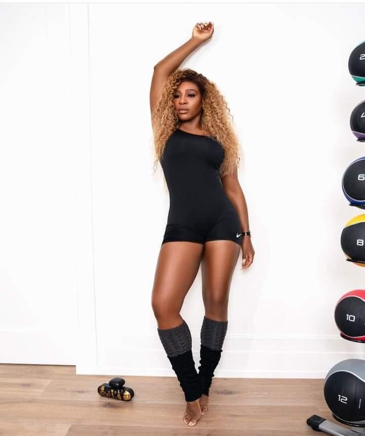 Serena Williams black catsuit