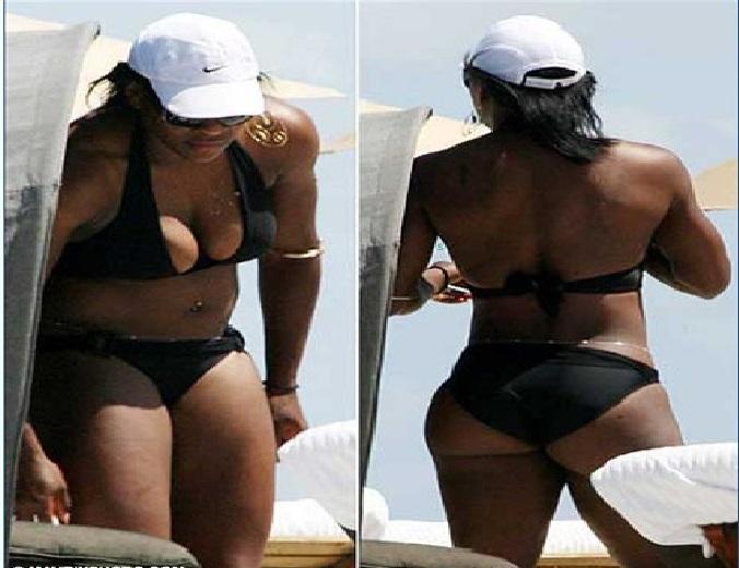 Serena Williams booty bikini picture