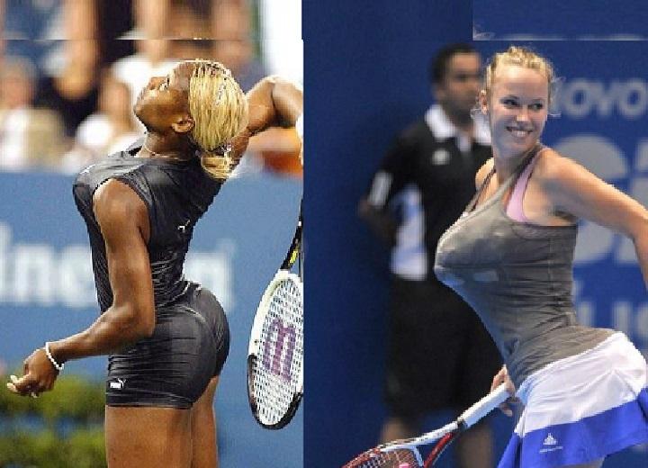Serena Williams mocked by Caroline Wozniacki