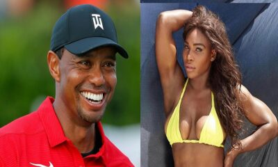 Tiger Woods and Serena Williams tennis ace
