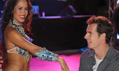 Andy Murray enjoys a female belly dancer