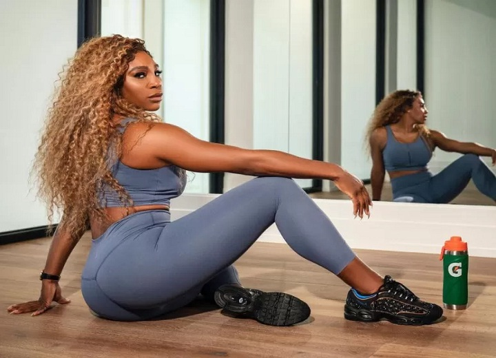 Serena Williams booty workout