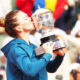Simona Halep kissed her Trophy