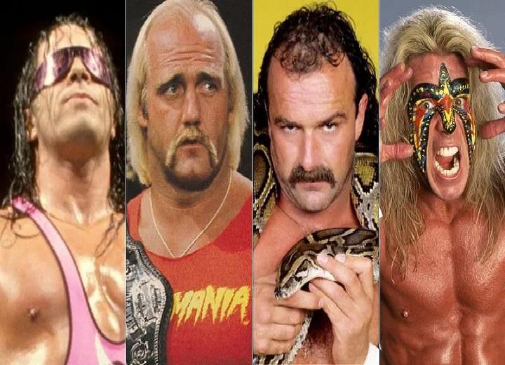 Bret Hart, Hulk Hogan, Jake Roberts, The Ultimate Warrior