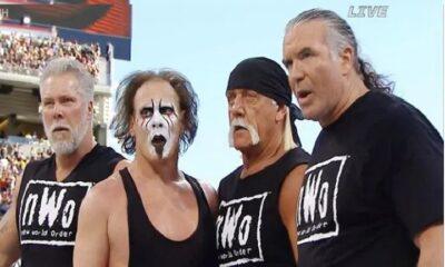 Hulk Hogan, Scott Hall and Kevin Nash and Sting