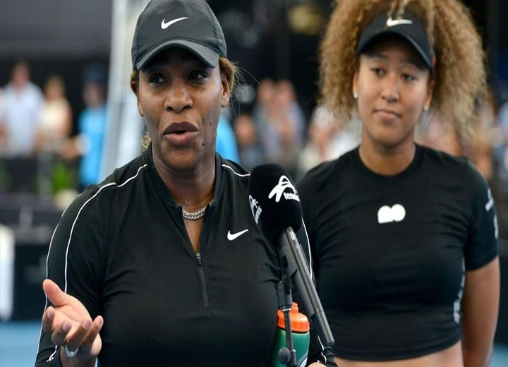 Naomi Osaka and Serena Williams AFP