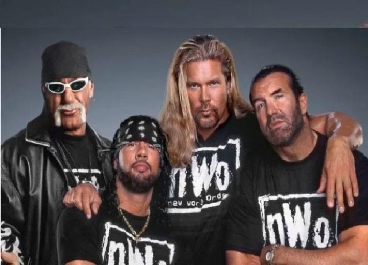 Scott Hall and Kevin Nash and Hulk Hogan