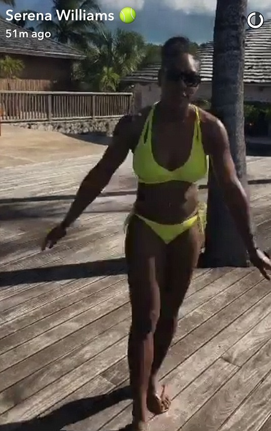Serena Williams Shows Off Her Toned Body