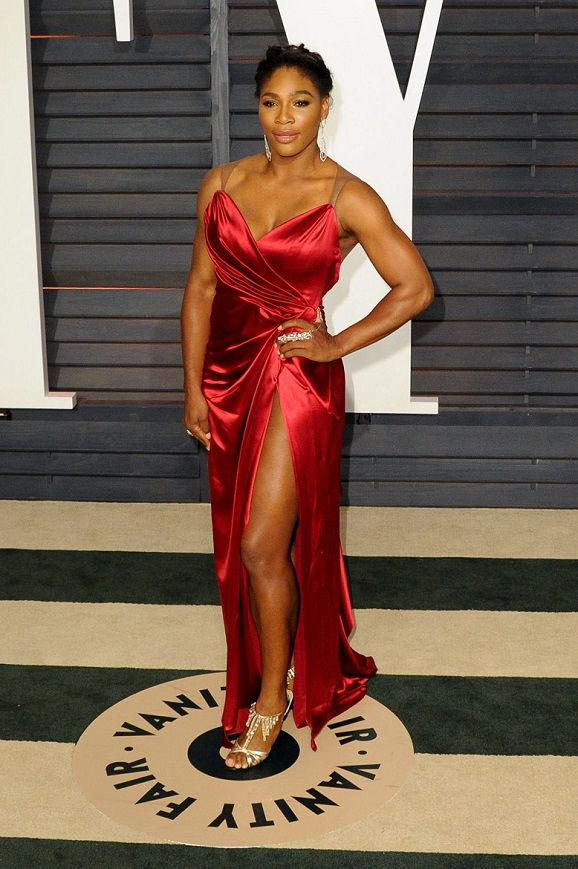 Serena Williams Shows Some Serious Leg at Oscars