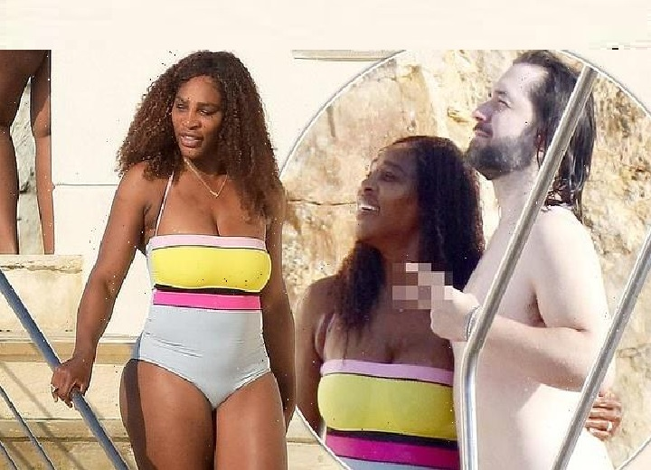 Serena Williams looks incredible in a colourful swimsuit