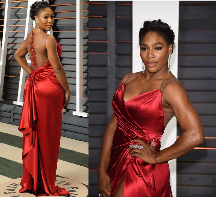 Serena Williams oscer red carpet