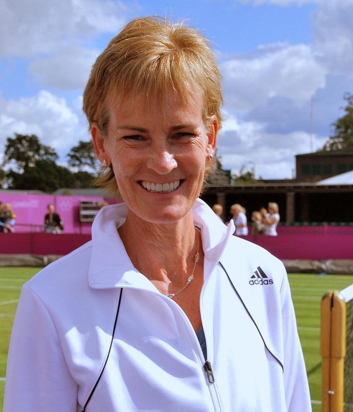 Judy Murray smiles