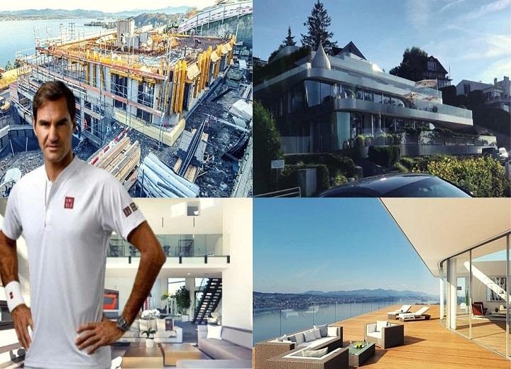 Roger Federer GLASS mansion on banks of Lake Zurich