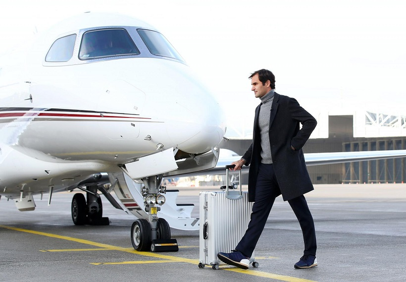 Roger Federer is jetting around the world