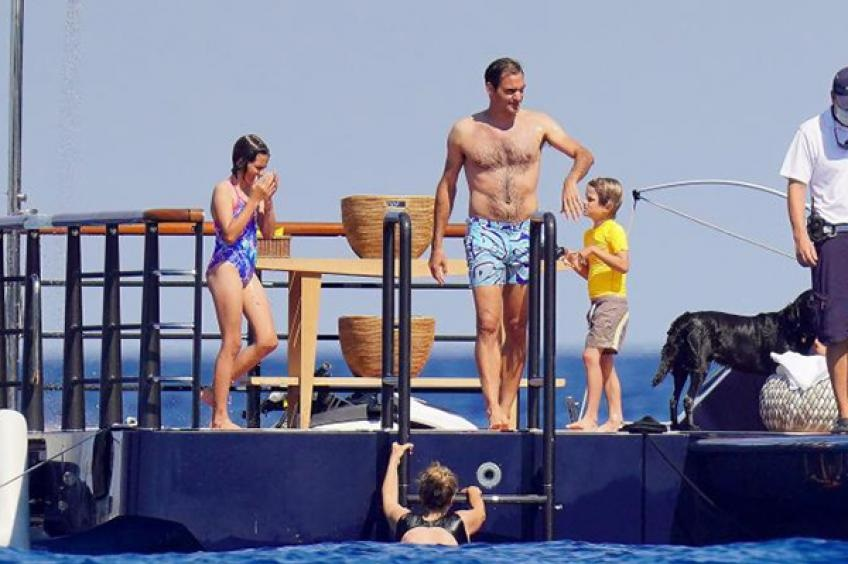 Roger Federer spends holidays with wife Mirka and twins on a billionaire