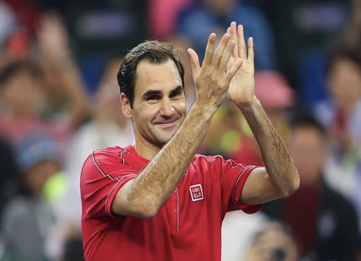 Roger Federer very happy