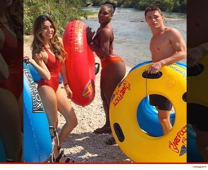 Serena Williams flashes her bottom in skimpy swimsuit as she hangs out with Colton Haynes