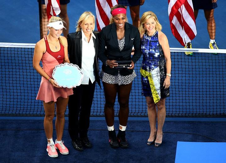 Serena Williams, Martina Navratilov, Chris Evert