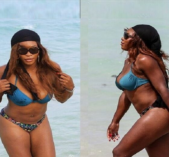 Serena Williams beach picx