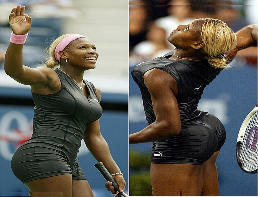Serena Williams flaunts court booty