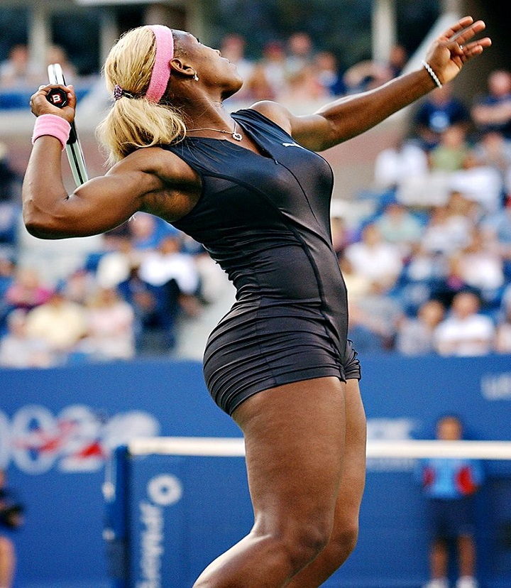 Serena Williams looked as good as she played
