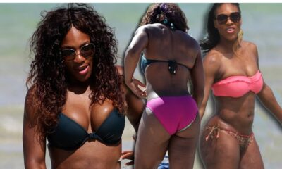 Serena Williams shows off a slimmer figure in tiny bikini pic