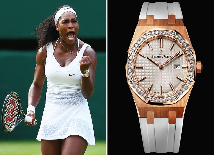 Serena Williams watches