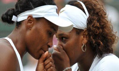 Serena and Venus Williams court