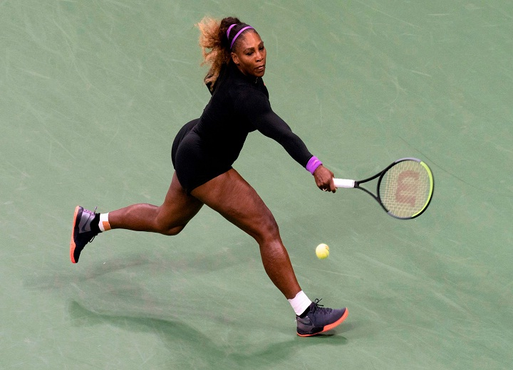 Serena Williams black bodysuit
