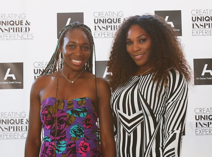 Venus Williams and Serena Williams at an event
