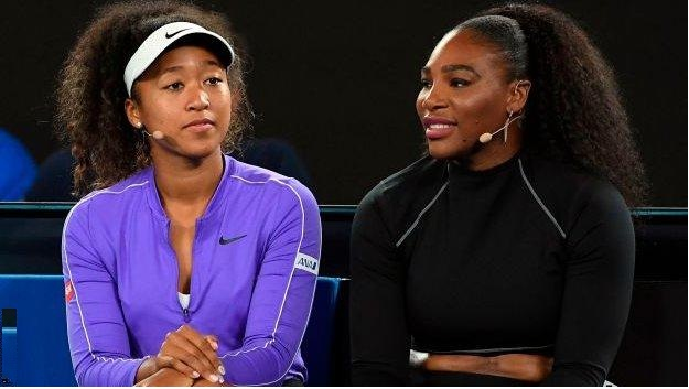 Naomi Osaka and Serena Williams tennis