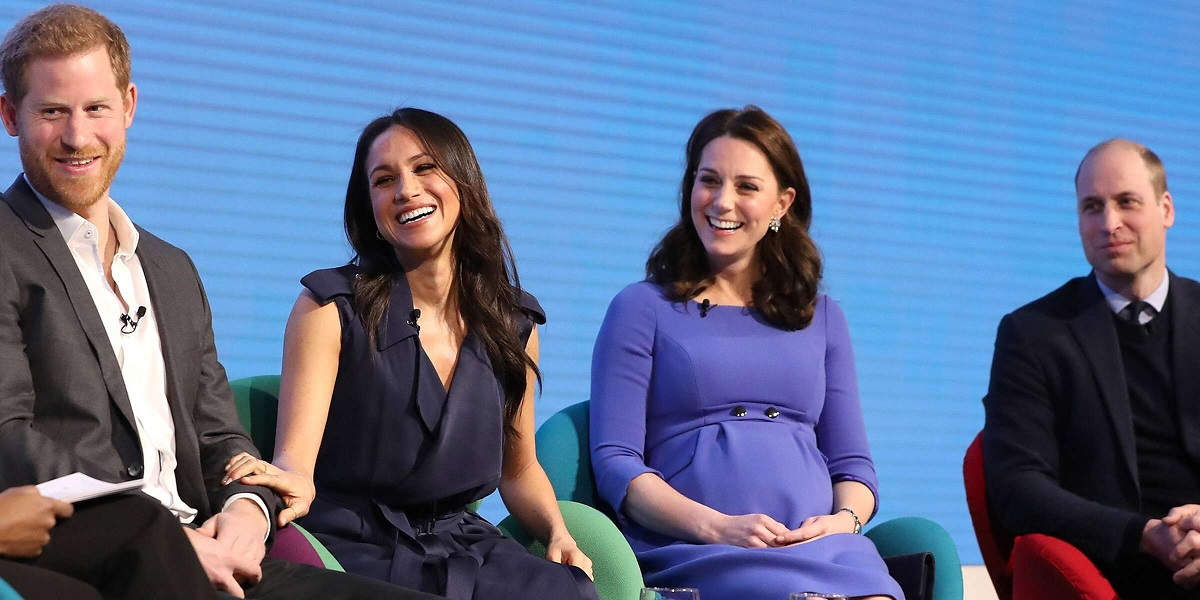 Prince Harry, Meghan Markle with Prince William, Kate Middleton