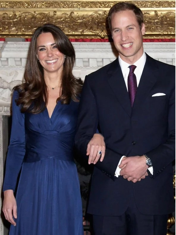 Prince William proposed to Kate Middleton with Princess Diana's sapphire and diamond ring