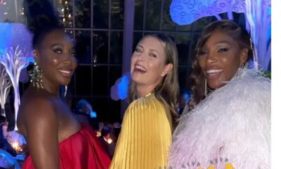 Serena Williams, Maria Sharapova take photos together at Met Gala